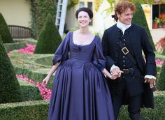 6 Beautiful Outlander Behind-the-Scenes Photos | On a gorgeous sunny day in Prague, which was a stand-in for Paris, Outlander's Caitriona Balfe and Sam Heughan dressed up in their French finest and posed for photos for TV Guide Magazine's April cover. Several candid moments were also captured of the two leads giggling and getting silly. Take a look at some of the breathtaking behind-the-scenes photos here.