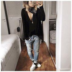 Noir et bleu et jean chouchou ⚫️
