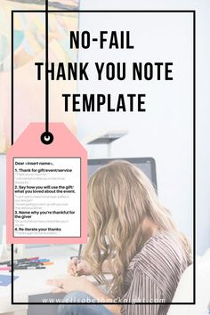 how to write a thank you card for any occasion (wedding, birthday, event) - so helpful! Thank You Card Sayings, Writing Thank You Cards, Business Thank You Cards, Thank You Notes, Thank You Gifts, Thank You Note Wording, Thank You Note Template, Self Made Millionaire, Card Sentiments
