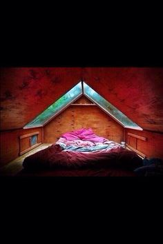 This would be amazing when it rains!! Perfect for like an attic!