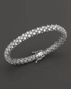 Bloomingdale's Certified Diamond Bracelet in White Gold, ct. - Exclusive Jewelry & Accessories - Fine Jewelry - All Fine Jewelry - Bloomingdale's Diamond Bracelets, Ankle Bracelets, Sterling Silver Bracelets, Diamond Jewelry, Silver Earrings, Jewelry Bracelets, Stackable Bracelets, Jewellery, Gold Jewelry