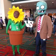 plant, zombi video, video game cosplay, video games cosplay, game costum