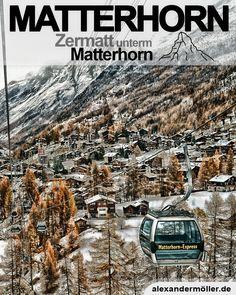 Matterhorn in Zermatt Zermatt, City Photo, November, Europe, Switzerland Destinations, Ski Resorts, Hiking Trails, Mountains, Alps
