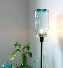 Image result for industrial mason jar table lamp