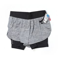 Pre-owned Champion Athletic Shorts Size 4: Gray Women's Activewear (22 CAD) ❤ liked on Polyvore featuring activewear, activewear shorts, grey, champion activewear and champion sportswear