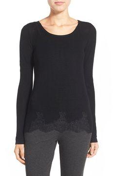 Elie Tahari 'Maya' Lace Detail Merino Wool Sweater
