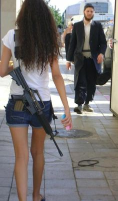 Israeli Soldiers are required to always carry their weapon, yet we have to hid our handguns in America                                                                                                                                                                                 More