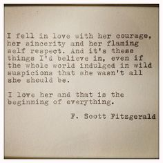 F. Scott Fitzgerald Framed Love Quote Made On Typewriter. $13.00, via Etsy. This is my FAVORITE F. Scott quote. That's how a woman deserves to be loved!