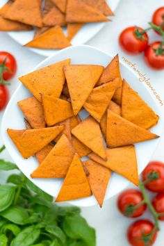 Tomato and Basil Lentil Chips. Lentil Chips tomato and basil flavour. High protein and healthy chips that are oil free. Cheap to make from baked lentils and full of flavour and gluten free - Vegan Recipes Gluten Free Chips, Vegan Gluten Free, Gluten Free Recipes, Vegan Recipes, Snack Recipes, Vegan Food, Snacks Ideas, Protein Recipes, Vegan Vegetarian