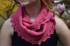 Undeniable Glitter: Rose Lace Cowl - free crochet pattern, DK yarn. Love this!
