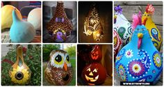 Fun Gourd Craft Projects Fall Home Decor Beyond Your Thinking
