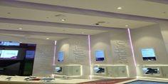 Ireland's first digital banking store in Dundrum Town Centre, undertaken by Sammon Interiors. 'The Lab', AIB's flagship branch, showcases digital banking. Bathroom Lighting, Centre, Lab, Ireland, Commercial, Retail, Interiors, Mirror, Digital