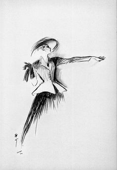 Drawing by Rene Gruau of the New Look silhouette from Christian #Dior: long skirt, narrow waist and full bust. https://www.pinterest.com/olgatoptour/dior-bridal https://www.pinterest.com/olgatoptour/dior-black https://www.pinterest.com/olgatoptour/dior-beauty Hey @kasandrasantosc, @naughtyselfiees, @homeinteri, @clorindamoschet! What are you thinking about this #DIOR pin?