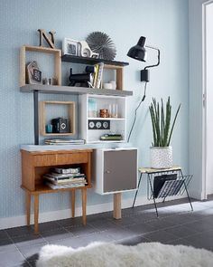 - SPACEO Home under-slope cabinet, white x x cm - - SPACEO Home under-slope cabinet, white x x cm - Image Roots Aged-Effect Shelf, 60 cm Wide AM. 35 shared home office ideas that are functional and beautiful 31 Home Office, Office Desk, Laminate Flooring, Home Projects, Corner Desk, Sweet Home, Leroy Merlin, Shelves, Cabinet