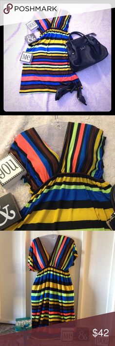 The dress sale 💕 Interesting dress, sexy, high-quality, suitable for summer, 95% polyester and 5% spandex ... 100% perfection !!! Just love Dresses
