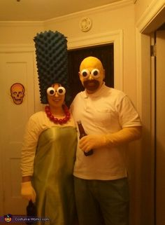 Marge and Homer Simpson - DIY Halloween costumes @Jennifer Seneff you guys have to figure out a way to make this happen hahaha