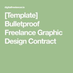Graphic Design Proposal Contract Template  Graphic Design