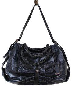 Hobo designer Gryson dark brown leather shoulder bag