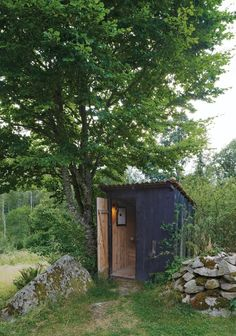 Charlotte Minty Interior Design: Modern and Traditional Swedish Summer House (Yes, that is the outhouse.)