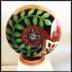 """""""Branching Out"""" by gourd artist, Cathy Norosky. Follow my aunts art!"""