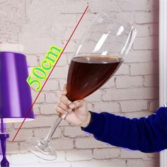 creative Super large champagne glass hanap red wine goblet cup ktv big capacity beer mug drinking glasses home hotel decor - Rolandos Gift Shop Oversized Wine Glass, Hotel Decor, Wine Goblets, Fun Cup, Ali Express, Glass Material, Drinking Glass, Wine Gifts, Hand Blown Glass