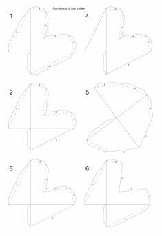 Net compound of four cubes