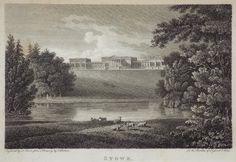 Antique Print - Stowe, Buckinghamshire. - Storer