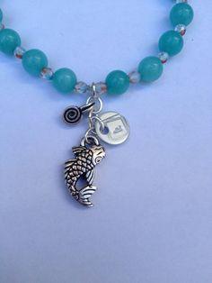 Koi Fish Charm Bracelet on Etsy, $16.50