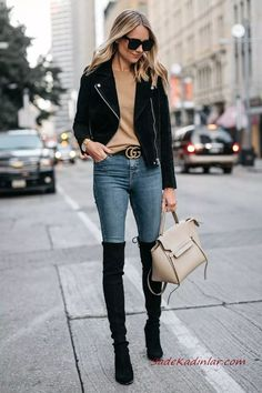 Fashion-CuteTeenOutfits Boot Fashion knee Outfit Outstanding Women Outfi bucaneras The post 45 Women Fashion Over The Knee Boot Outfit Looks Outstanding appeared first on Pinteres Club Site. 45 Women Fashion Over The Knee Boot Outfit Looks Outstanding Mode Outfits, Retro Outfits, Fall Outfits, Fashion Outfits, Outfit Winter, Fashion Boots, Fashion Fashion, Womens Boots Outfits, Fashion Clothes