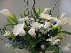 Callalilies and Gerber daisies Roses