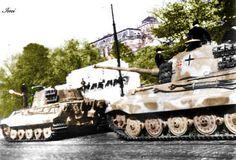 Königstiger II convoy under the Castle of Budapest 12 october 1944