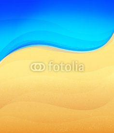 Wektor: Sand and sea