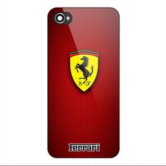 New Best Ferrari Red Carbon Logo Custom Print On Case for iPhone 6 6Plus 7 7Plus #UnbrandedGeneric