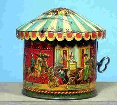 Tin-Penny Toy Carousel - German, c1900