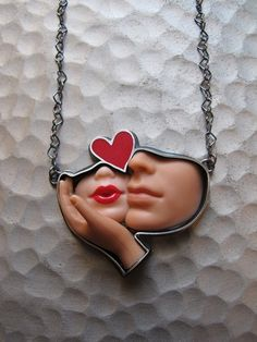 Barbie parts necklace <3