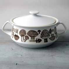 mushroom casserole dish...I think you have a piece of this pattern  :}