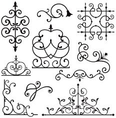 Wrought Iron Ornament Series