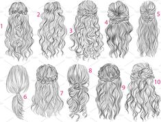 Business İdeas 761108405764616746 - 10 Long romantic hairstyles Source by morganemoisy Drawing Sketches, Art Drawings, Drawing Faces, Drawing Tips, Sketching, Girl Hair Drawing, Long Hair Drawing, Drawing Hair Tutorial, Pelo Anime