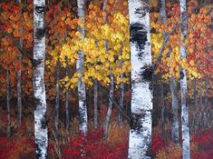 """""""A Night To Remember"""" 48""""x36"""" Contemporary Abstract Landscape Artist Melissa McKinnon features BIG COLOURFUL PAINTINGS of Autumn Aspen & Birch Trees, Rocky Mountains and stunning views of the Canadian prairies, big skies and ocean beaches. Be the first to hear about NEW PAINTINGS, works in progress and news from my studio, Sign Up For MyMonthly EMAIL NEWSLETTER: http://eepurl.com/rqj-L  Website & Blog: www.melissamckinnon.wordpress.com"""