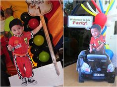 standees - Sam's 1st Birthday   Disney Cars Kiddie Party Theme