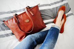 I LIKE IT COMFY Modezeilen.blogspot.com #fashion #modezeilen #fashionblogger #inspiration #streetstyle #thebridge #buffalo #flats #leatherbag #jeans