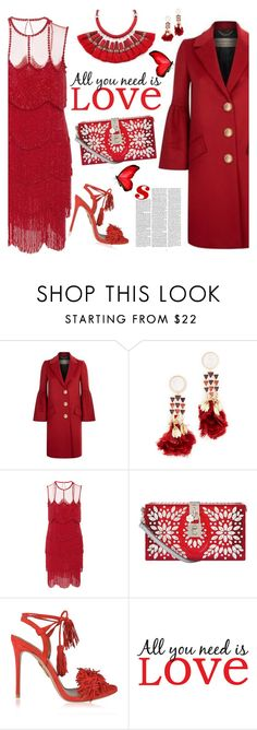 """you make me smile with my heart."" by sinesnsingularities ❤ liked on Polyvore featuring Burberry, Tory Burch, Naeem Khan, Dolce&Gabbana, Aquazzura, Brewster Home Fashions, contest, reddress, contestentry and valentinesday"