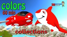 Learn Colors 60 Minutes 3d Animation Colours Lesson for Nursery Children