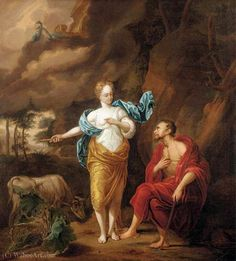 'Jupiter, Junon et Io' de Arnold Houbraken (1660-1719, Netherlands)