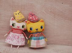 Little cats by Miriana , via Behance