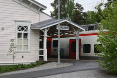 Trains have stopped at Turenki over 150 years and do it now. Nearly 10 trains from and daily - see more vr. Helsinki, Vr, Trains, Restoration, Garage Doors, Building, Outdoor Decor, Buildings, Carriage Doors