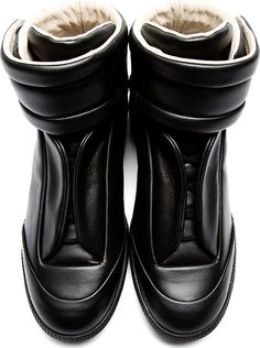 Maison Martin Margiela: Black Future High-Top Sneakers