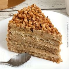 Tarta de moka y almendra   Mocha almond cake