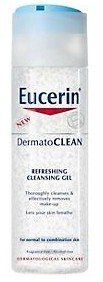 Eucerin DermatoClean Refreshing Cleansing Gel 200 Ml. by Eucerin DermatoClean Refreshing Cleansing Gel 200 Ml.. $16.15. This lightly foaming cleanser deeply removes excess oils, impurities and debris, leaving the skin feeling fresh and pure - for regained freshness, suppleness and vitality.. Eucerin DermatoCLEAN Cleansing Gel leaves:  1. Your skin is visibly purified, clear and refreshed.  2. Your skin can breathe and is optimally prepared for moisturisation.  Skin type: For norm...