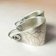 Argentium Sterling Silver Saddle Hoop Earrings